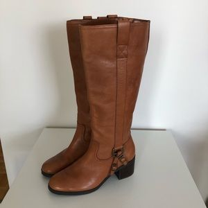 RALPH LAUREN Brown Leather Riding Style Boot